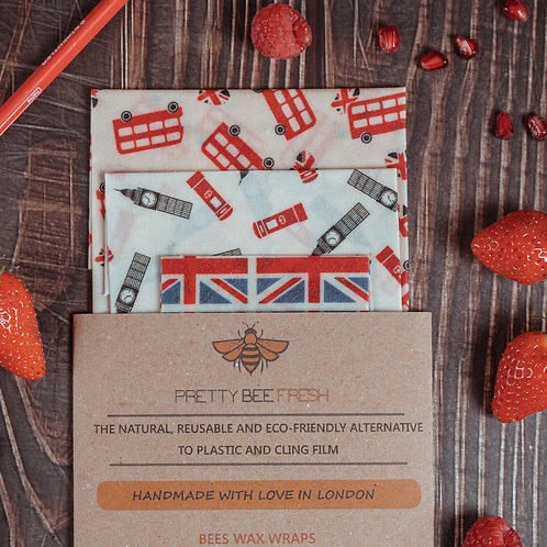 Beeswax Wrap London Pack