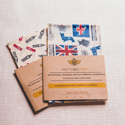 Beeswax Wrap London Large Pack