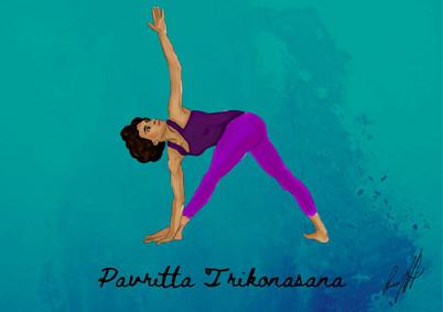Pavritta Trikonasana