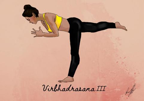 Virbhadrasana III