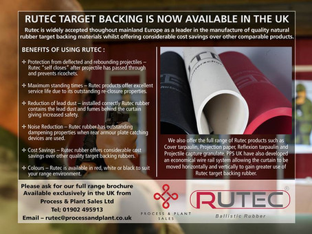 Rutec Anti splash target backing now available in the UK