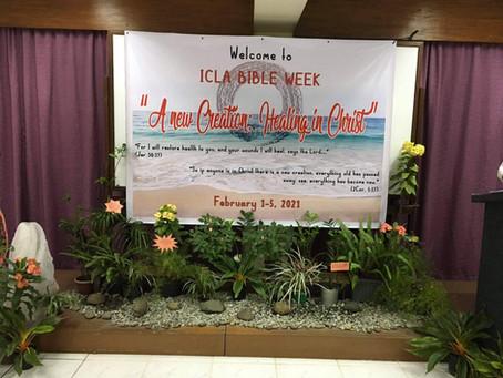 ICLA Bible Week - A window into God's healing word in the Word