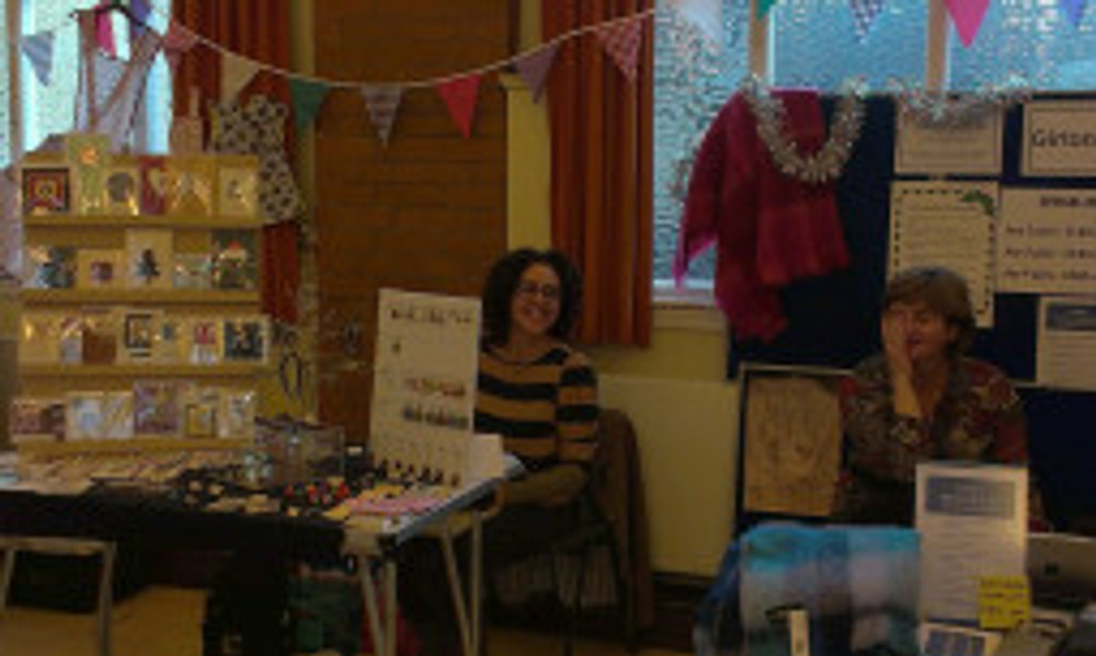 Mel and her lovely handmade cards and Jewellery