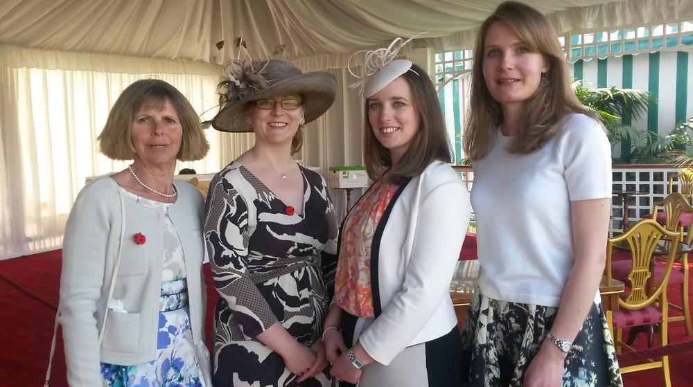 Cambridge girls in the royal tea tent!