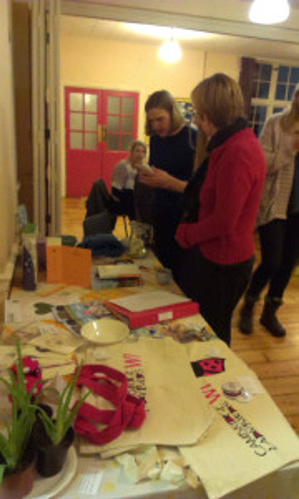 Ladybirds check out what is on offer in the raffle