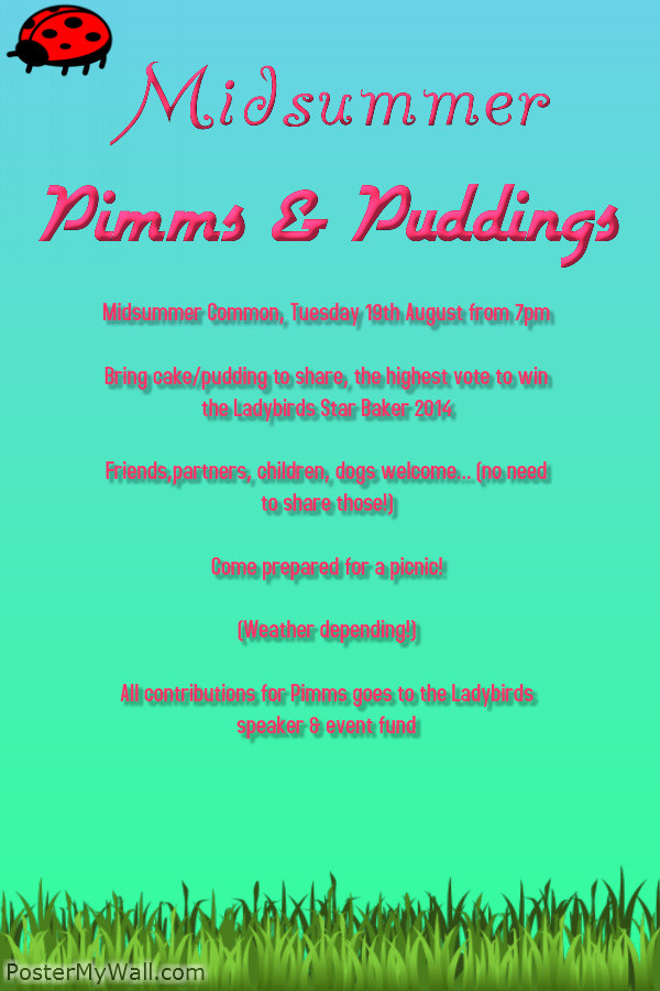 Midsummer Pimms and Puddings