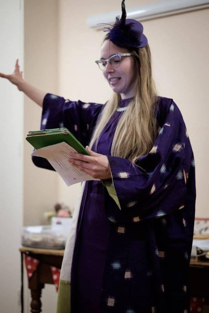 Sophie giving speech