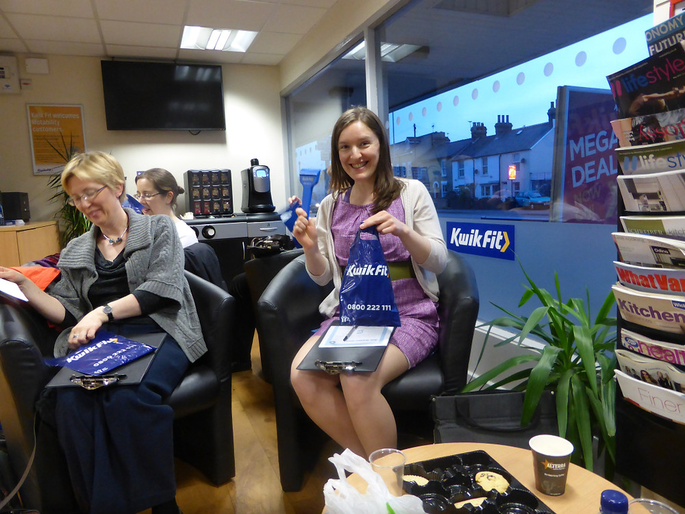 Ooh Deirdre is excited about our goody bags!