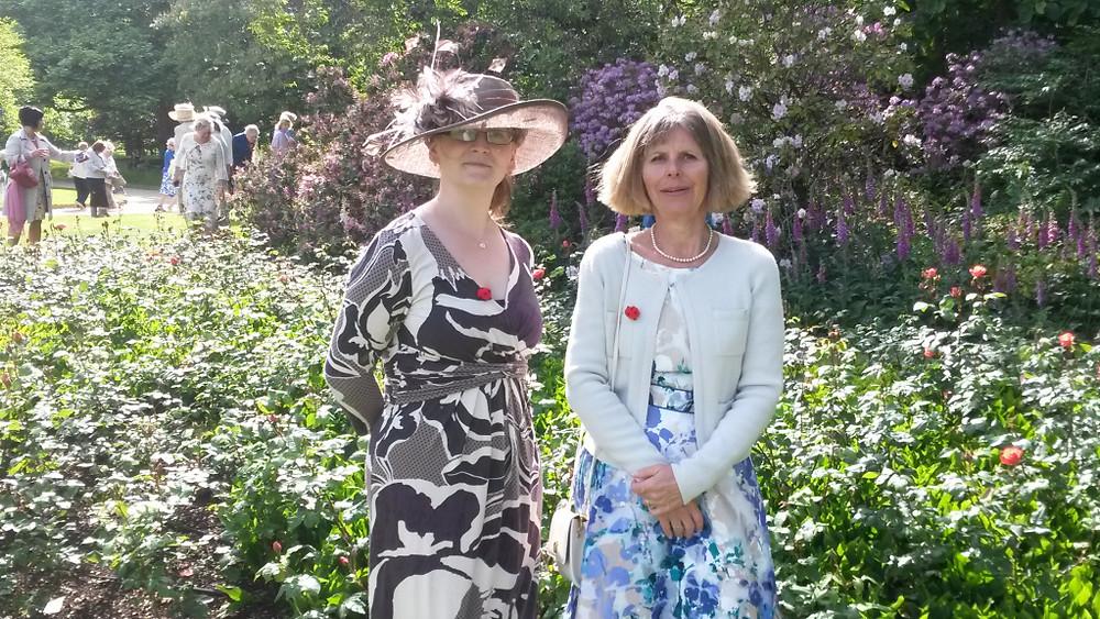 Halen and Kathy in the rosegarden