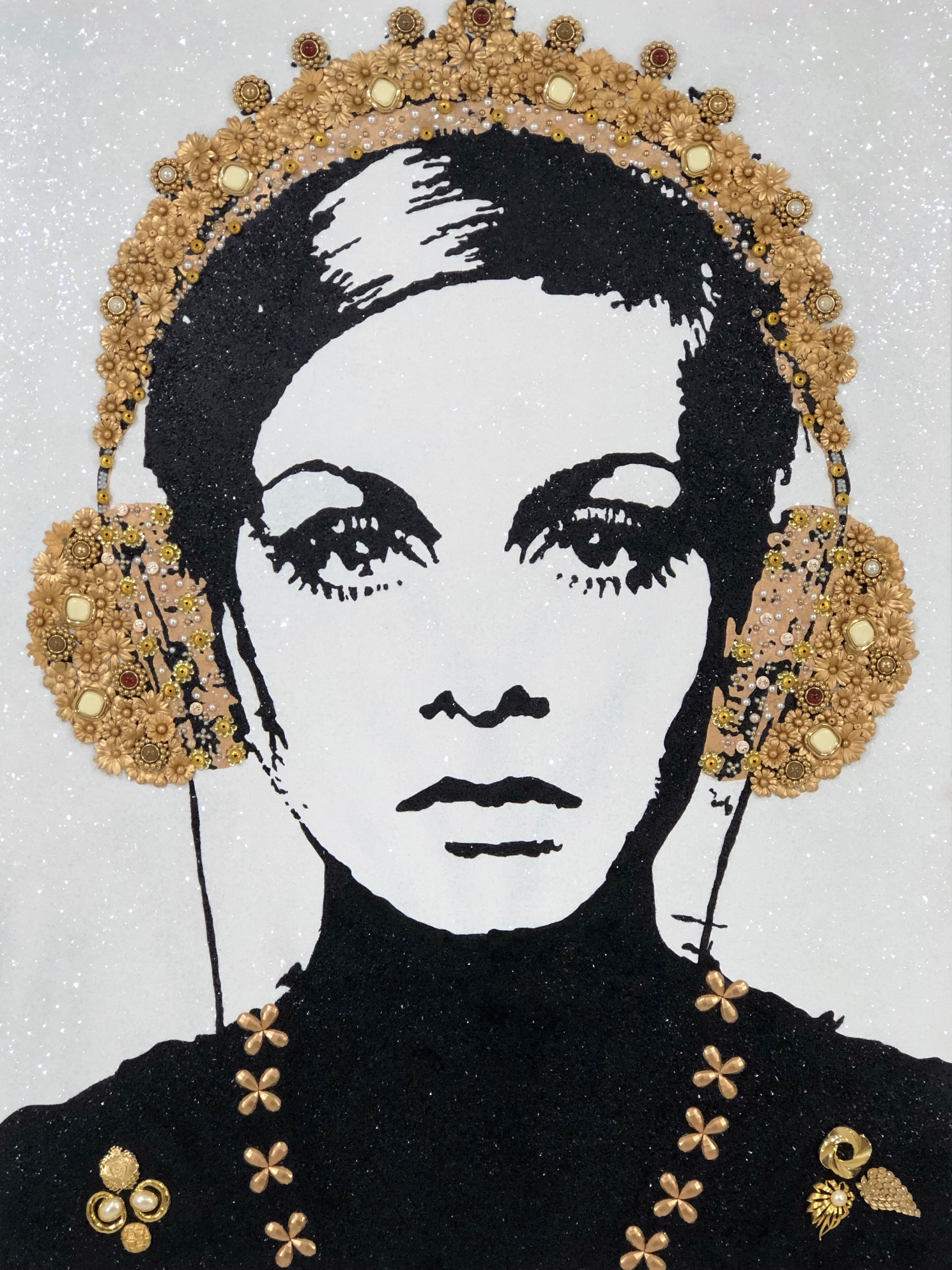 """Twiggy"" 48""x 36"" Mixed Media"