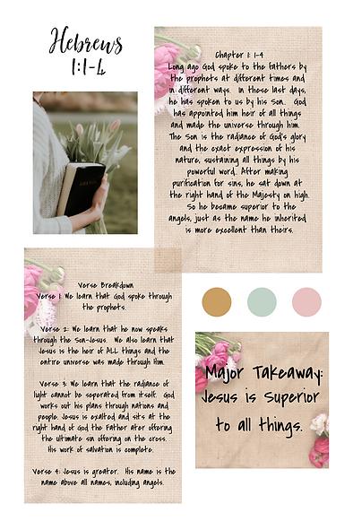 Hebrews Scripture Writing Chapter 1_ 1-4