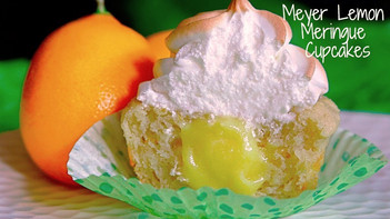Gluten Free Meyer Lemon Meringue Cupcakes