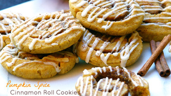 Pumpkin Spice Cinnamon Roll Cookies