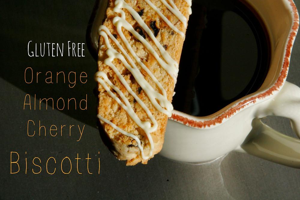Gluten Free Orange, Almond, Cherry Biscotti