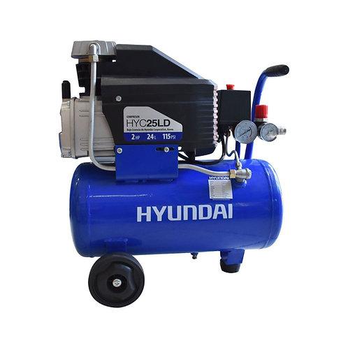 COMPRESOR HYUNDAI 25L DIRECTO 2HP 115 PSI