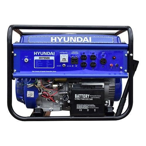 GENERADOR HYUNDAI PORTATIL HHY5500 5.0-5.5 KW C/MOTOR 13 HP