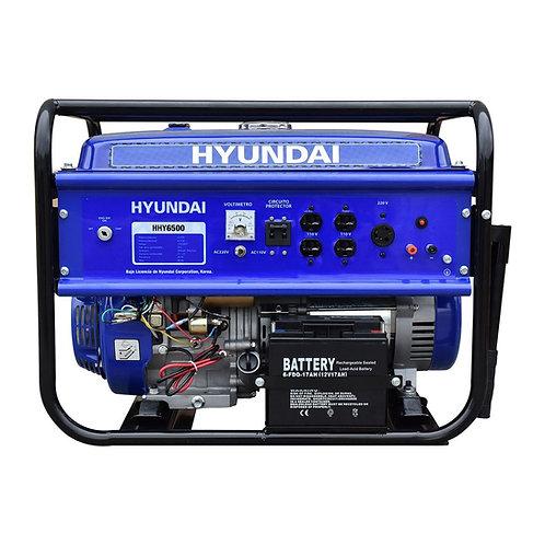GENERADOR HYUNDAI PORTATIL HHY6500 6.0-6.5 KW C/MOTOR 16 HP