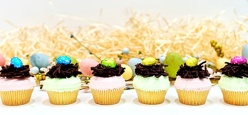 Easter Nest Cupcakes - 4 pack