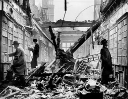 The destruction of Holland House, Kensington where Lady Holland's natural history was exhibited.