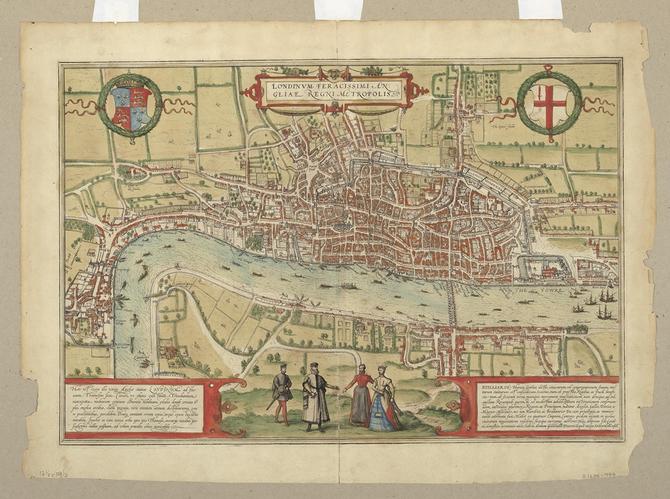 A printed map of sixteenth-century London