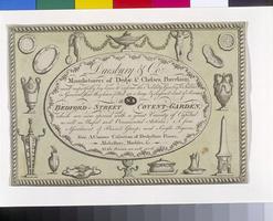 Trade Card, ca. 1774