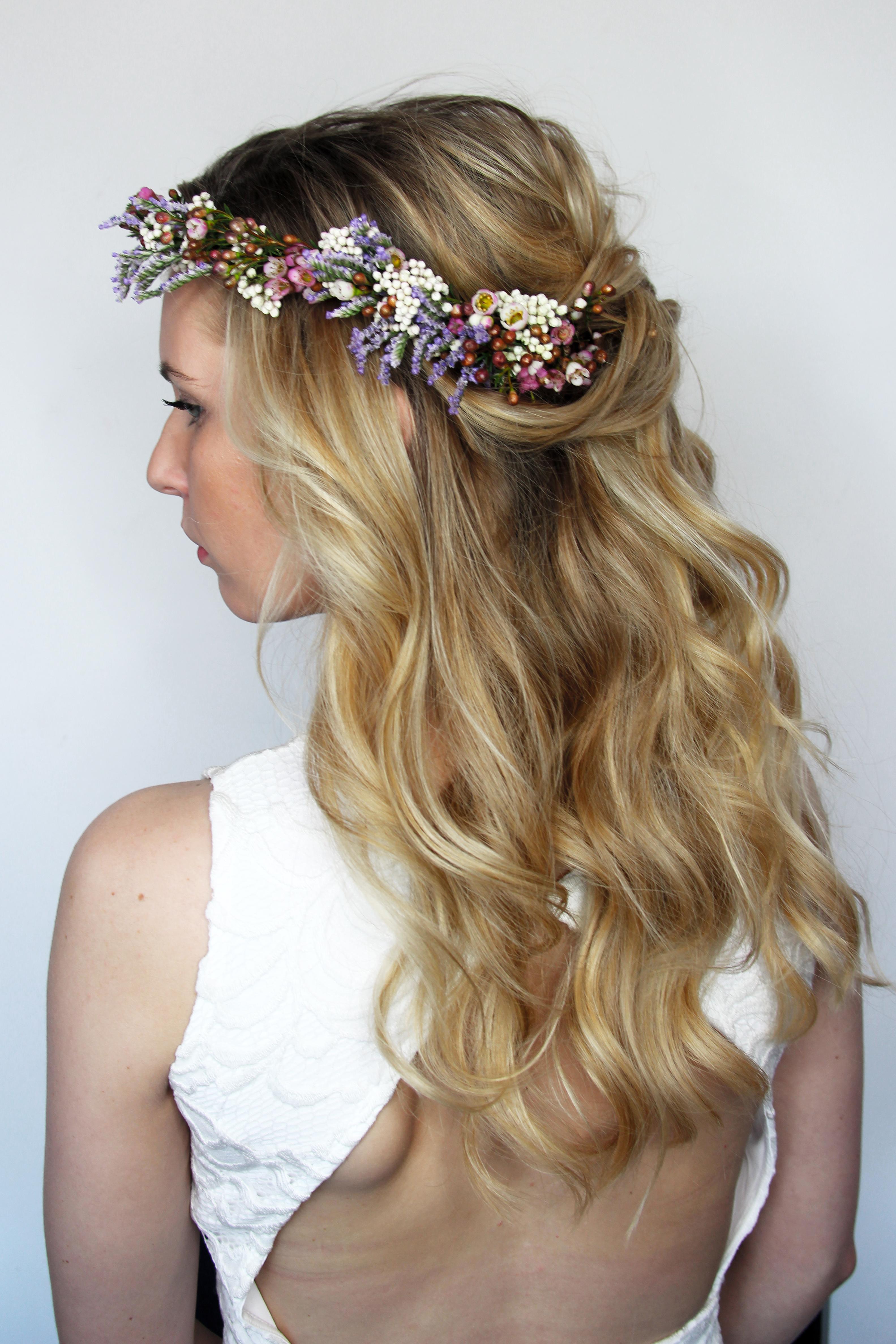 Bridal Hair With Flowercrown