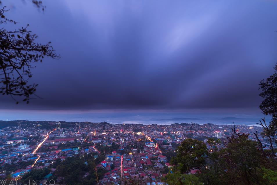 Twilight over hometown
