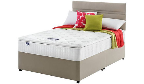 Miracoil7 Pillow top Super King Size mattress + Designer Base and headboa