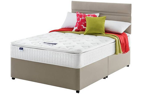 Miracoil7 Pillow top King Size mattress + Designer Base and headboa