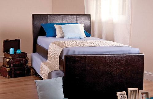 leather guest bed