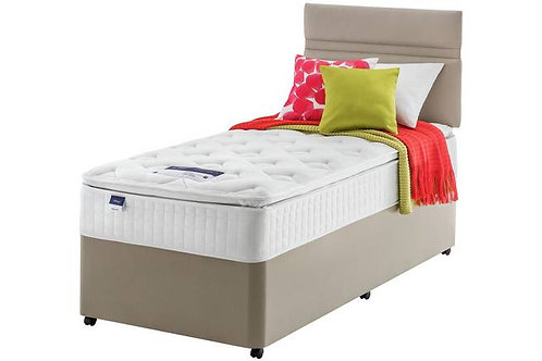 Miracoil7 Pillow top Single mattress + Designer Base and headboard