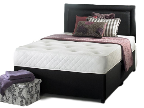 1000 pocket dual season Double Divan & Headboard