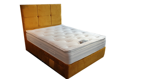 Pillowtop Plush Double Divan + headboard