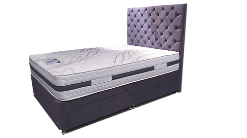 2000 Latex Super King Size Divan + Headboard