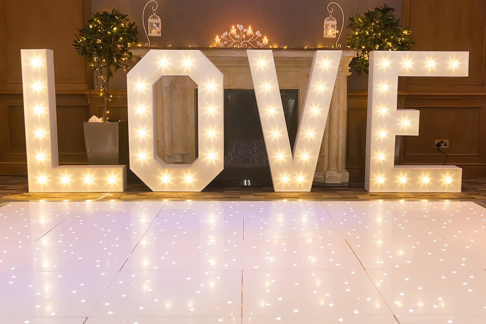 Light up letters wedding
