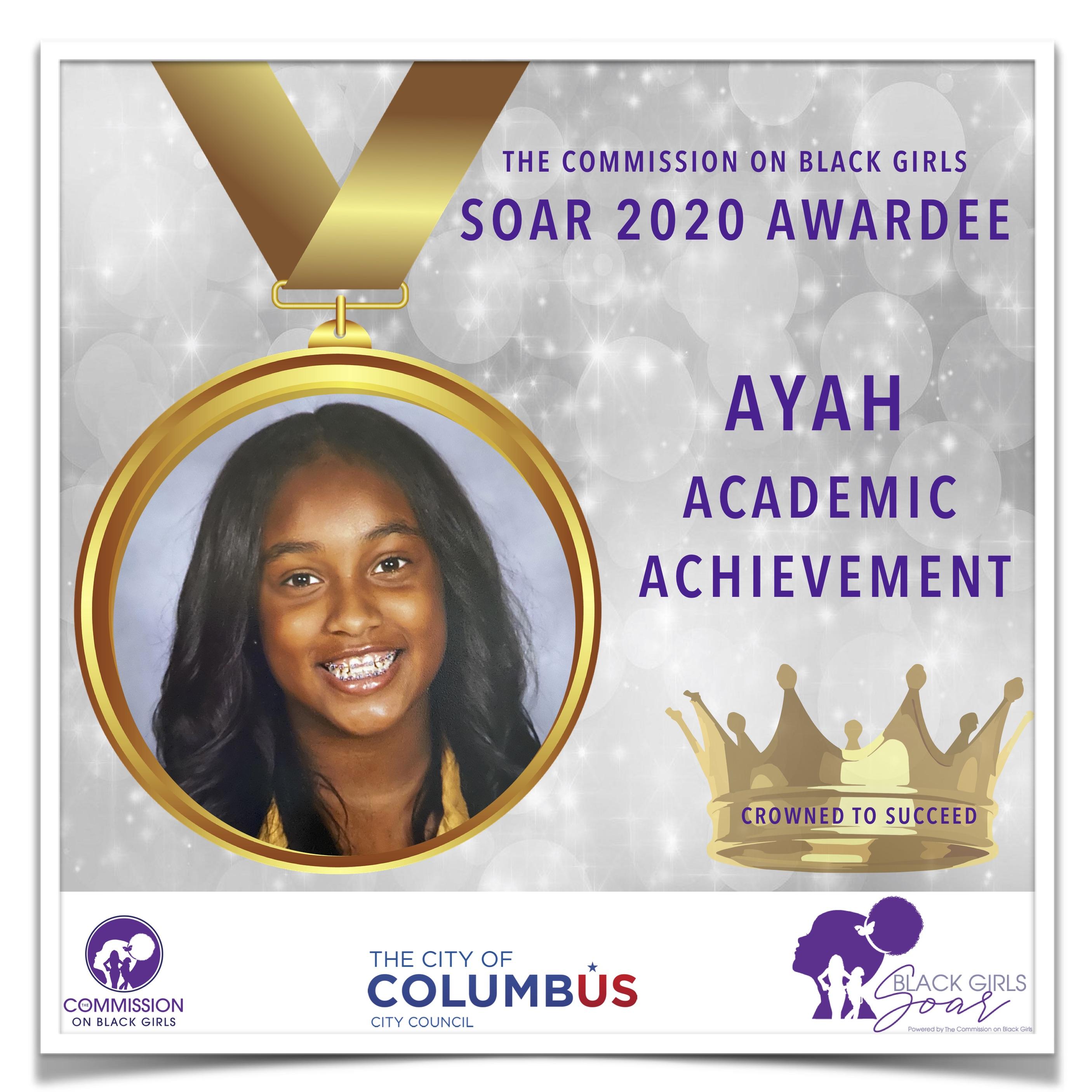 26 SOAR 2020 Ayah Academic Achievement