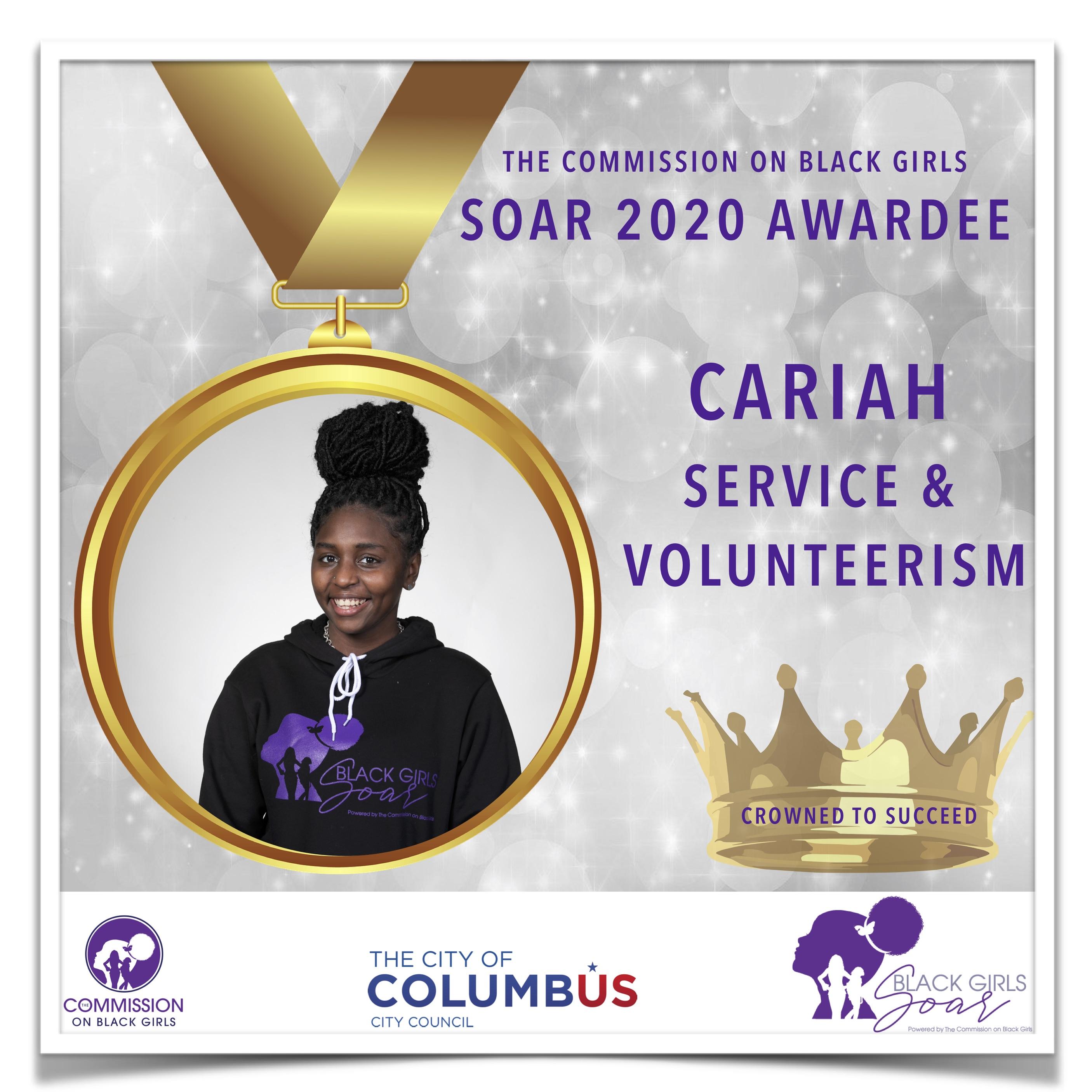3 SOAR 2020 Cariah Service and Volunteer