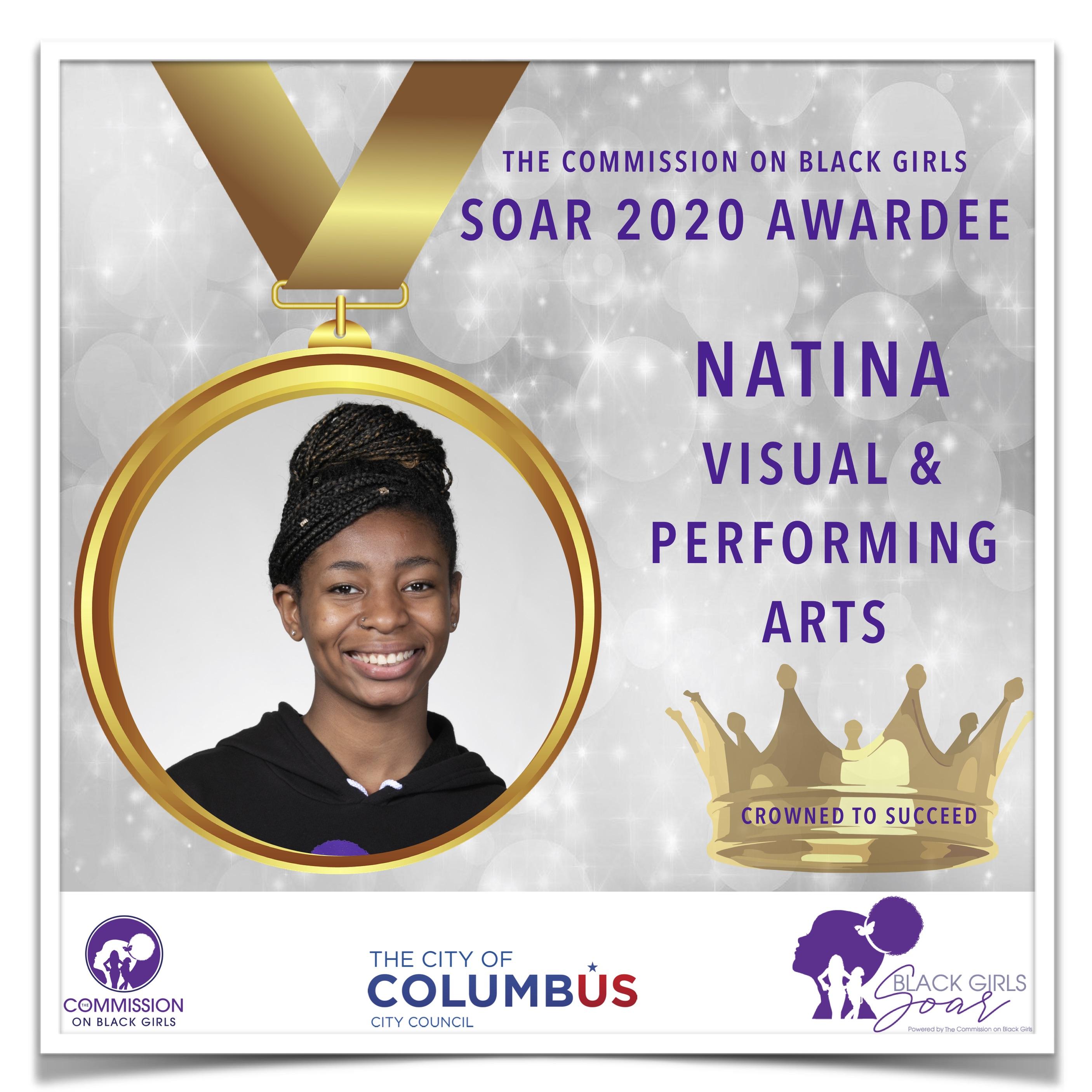 7 SOAR 2020 Natina Visual and Performing