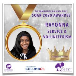 1 SOAR 2020 RayonnaService and Volunteer
