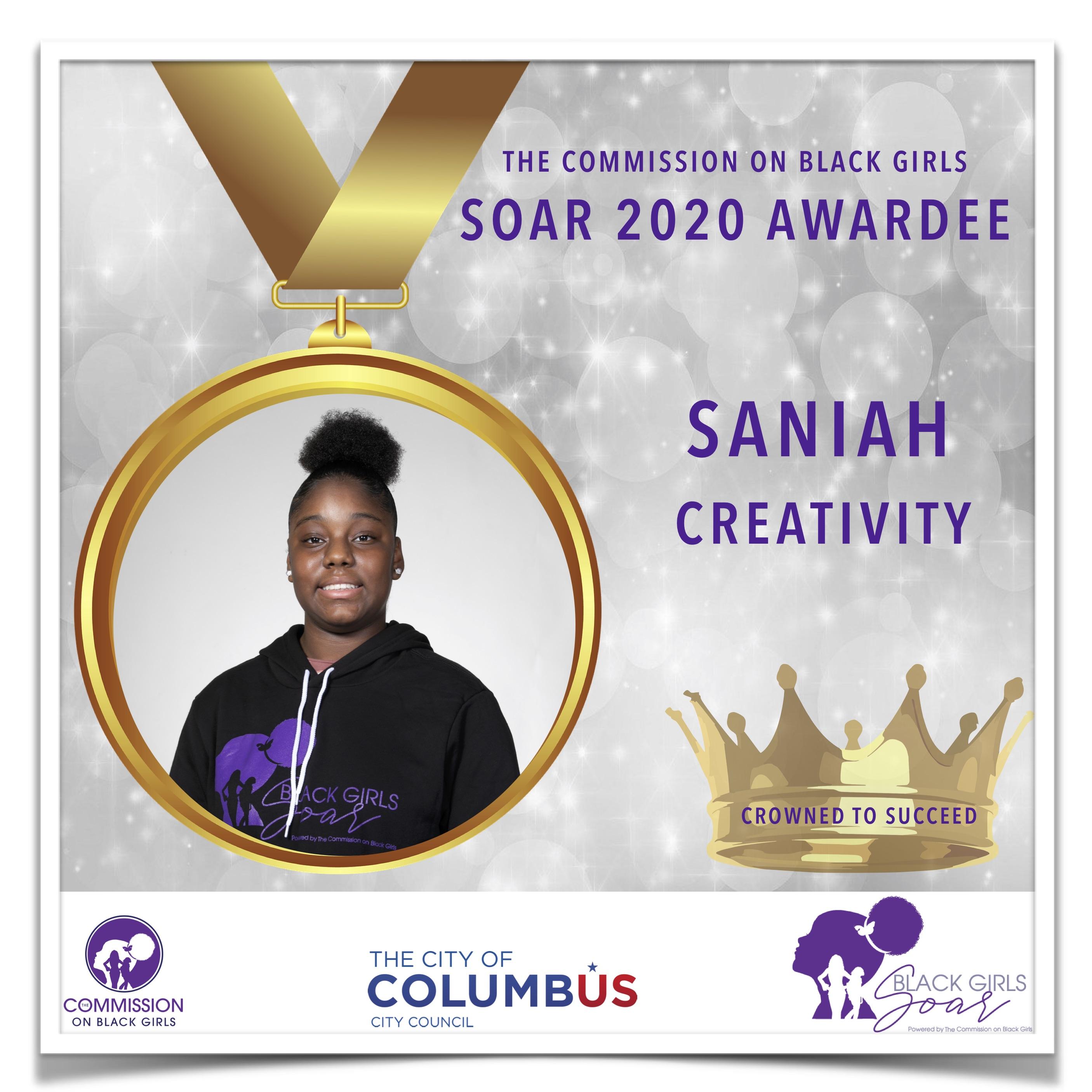 11 SOAR 2020 Saniah Creativity