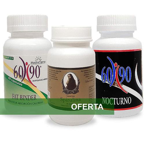 Set 6090 Fat Binder + 6090 Nocturno + Spirulina