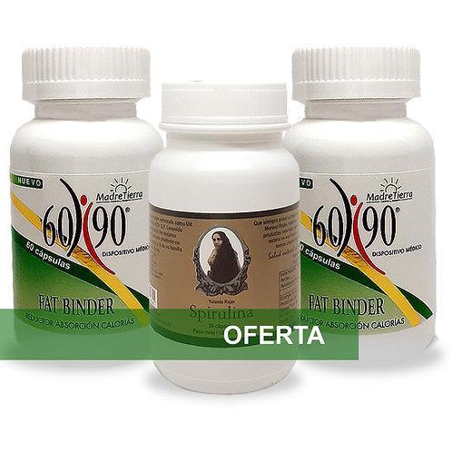 Oferta  6090 Fat Binder + Spirulina