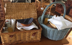 picnic baskets waiting to be delivered