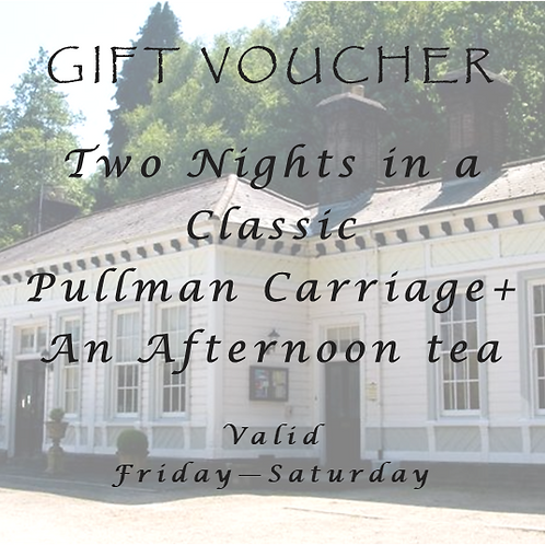Two nights stay at the weekend in a Classic Pullman Carriage with  Afternoon Tea