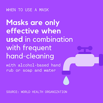 Purple When to Wear a Mask Coronavirus I