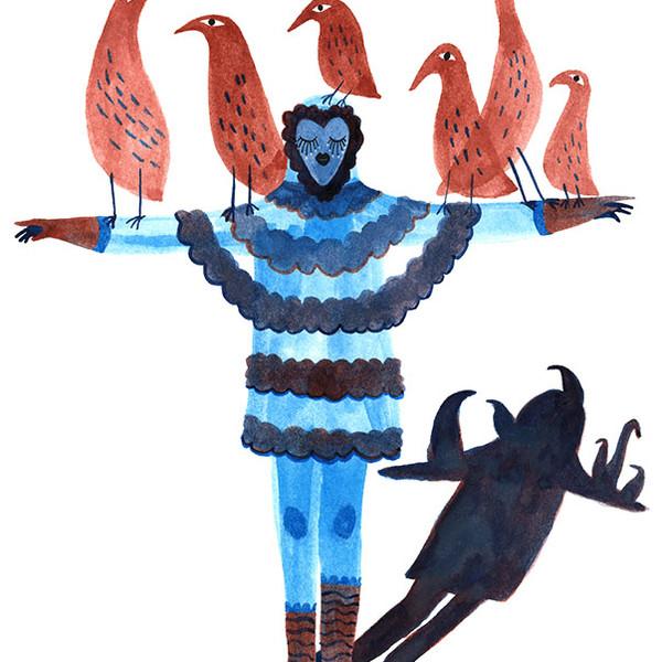 La danseuse d'oiseaux / The bird dancer
