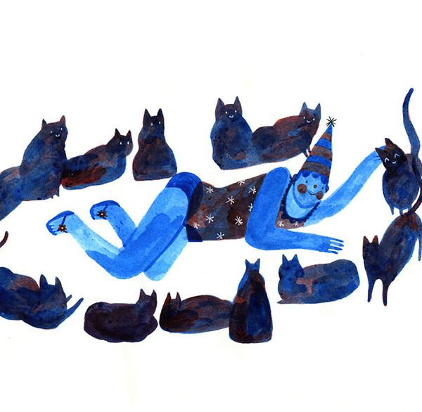 La fille aux chats / The cat girl