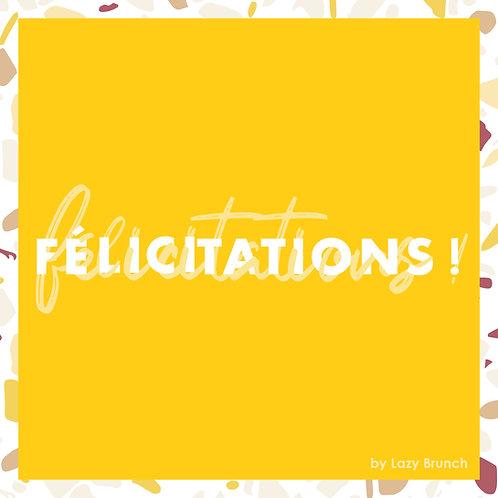 Carte cadeau Brunch Félicitations 100€
