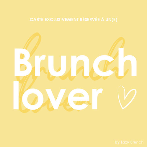 Carte cadeau Brunch Lover 75€