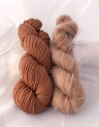 Naturally Dyed Merino Cashmere Nylon and Kid Mohair and Silk Sock weight Yarn